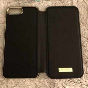 New Kate Spade iPhone7&8 Plus Folio Case, Black
